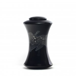 Glass funeral urns