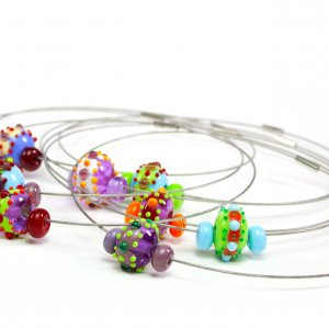Home decor and glass jewelry