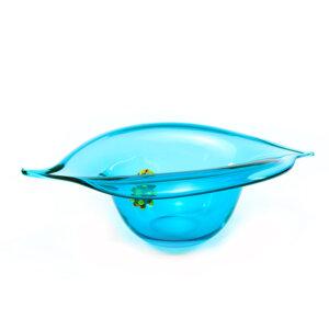 Bol en verre soufflé ORGANICO Aqua. Caroline Ouellette